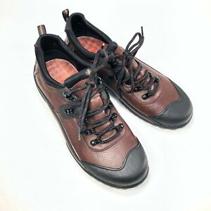Clarks Muckers Etna 85218 Brown Leather Rubber Women Casual Sneakers Sz 10M