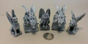 Dollhouse Miniature Fairy Garden Resin Halloween Spooky Gargoyles set 5