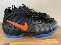 Nike Air Foamposite Pro Black/Total Orange/Battle Blue 624041-010 NEW Men Sz 7