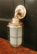 Vintage Explosion Proof Cage Light Wall Sconce REWIRED Pauluhn Brass Industrial