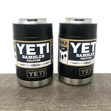 YETI Rambler Colster Stainless Steel Black - Brand New - Set Of 2