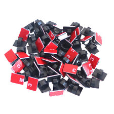 100pcs 3M Self-Adhesive Cable Clips Cord Organizer Wire Management for Auto Car