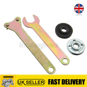 4Pcs Replacement Angle Grinder Flange Spanner Wrench&Lock Nut Hand Tools Kit
