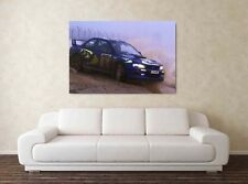Colin McRae 30x20 Inch Canvas Art WRC Rally Subaru Impreza Framed Picture Poster