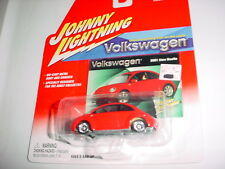 JOHNNY LIGHTNING VOLKSWAGEN 2001 NEW BEETLE RED MIP FREE USA SHIPPING