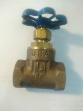 "1/2"" Sterling Brass Gate Valves - 200 WOG, SP Threaded - Blue Handle"