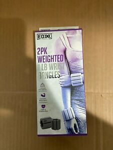 EDX 1lb Wrist Weights Women & Men Adjustable Ankle Cuffs Strength Training Gray