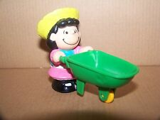 PEANUTS LUCY WITH APPLE CART 1989 MCDONALD'S FARM TOY FIGURE