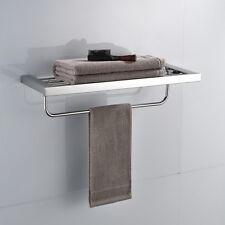 Chrome Polish Wall Mounted Bathroom Towel Rack Towel Rail/ Towel Bar Shelf