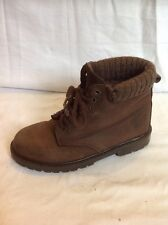 Bhs Brown Ankle Leather Boots Size 4
