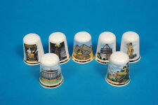 Seven Wonders of The World Set of 7 China Thimbles B/170