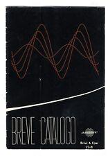BRUEL & KJOER - BREVE CATALOGO - Nº SS-8 - FEBRERO 1959