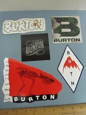 BURTON snowboard 2013 BIG 5 sticker set New Old Stock Mint Condition Flawless