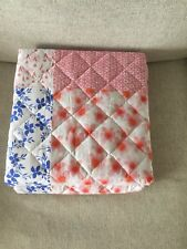 BNWOT Next chill Patchwork Throw 100X150cm kids home decor gift Xmas pink white