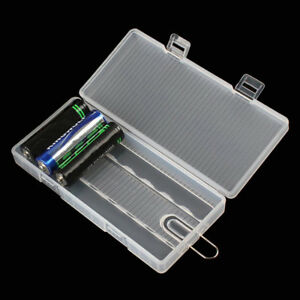 Hard Transparent Plastic Battery Case Holder Storage Box for 8 x AA Battery 2019
