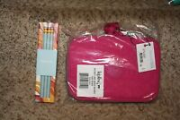KIPLING 100 PENS Pencil Case (Very Berry)+ Kipling Pencil Set (Happy Friday) NEW