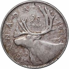 1947  25C Canada 25 Cents