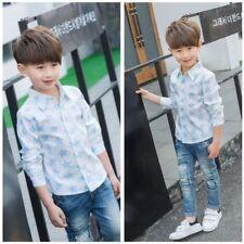Magliette , maglie e camicie blu manica lunghi senza marca per bambini dai 2 ai 16 anni