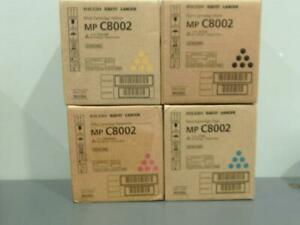 New Genuine RICOH SAVIN LANIER MP C8002 Print Cartridge Set