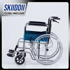 Brand New Portable Folding Wheel Chair Wheelchair Lightweight Mobility Aid