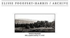 ELISSE POGOFSKY HARRIS  AQUATINT ETCHING 1975 UMBRIAN HAYSTACKS 4 X 9.75''  RARE