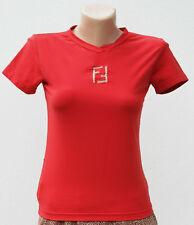 Fendi red logo t-shirt sz 42 IT (S)