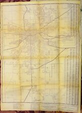 1960 Kalamazoo Michigan detailed city road map blueprint?