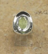 RLM STUDIO STERLING SILVER FACETED GREEN PREHNITE PUDDLE RING SIZE 5 QVC $114.75