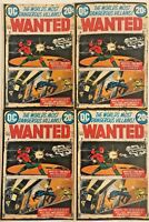 WANTED#6 FN/VF LOT 1973 (4 COPIES) DC BRONZE AGE COMICS