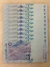 (JC) 10 pcs RM1 11th Series Signed Zeti First Prefix AA 7428051 - 060 - UNC