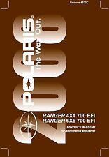 Polaris Owners Manual Book 2008 RANGER 4X4 700 EFI