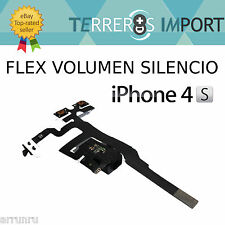 Flex Volumen Jack 3.5mm Silencio iPhone 4S Negro Reparacion