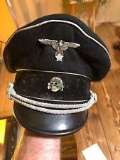 WW2 German Elite Officers Crusher Cap In Good Condition & Original
