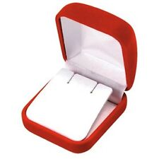 Lot Of 2 Red Velvet Earring Jewelry Display Packaging Gift Boxes Lg