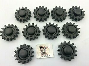 """10 Knex Small 1"""" Black Snap-on Gears - K'nex Education Replacement Parts"""