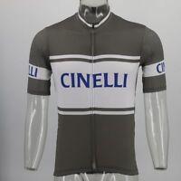 CINELLI Cycling Jersey Retro Road Pro Clothing MTB Short Sleeve Bike Racing