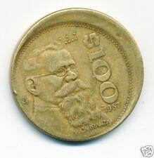 1987 (Mexico) 100 Pesos Coin, Off Center Mint Error