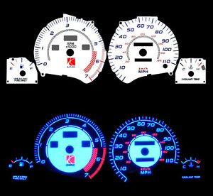 NEW 95 96 97 Saturn SOHC Blue Indiglo Glow White Gauge