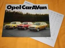 Opel Caravan Kadett Ascona Rekord 1974 Prospekt Brochure Catalog Depliant
