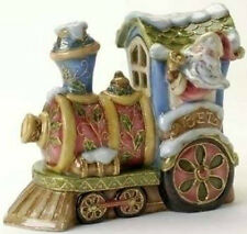 "RETIRED - MUSICAL PORCELAIN SANTA TRAIN - BEAUTIFUL!!! - ""HERE COMES SANTA CLAUS"