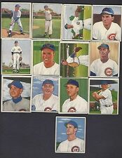 1950 Bowman Chicago Cubs CompleteTeam Set (15) Averages VG VG-EX