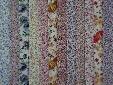 24 Strisce Jelly Roll 100% Cotone Patchwork Tessuto Fiori piuttosto lunga 22 pollici