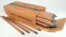 """CARBON ARC RODS for 35mm FILM PROJECTION  1 BOX of 3/8"""" x 9"""" NATIONAL NEGATIVES"""