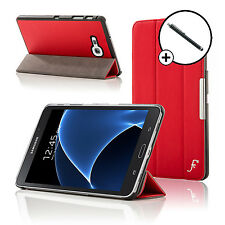 Leather Red Folding Smart Case Cover Samsung Galaxy Tab A 7.0 SM-T280 Stylus