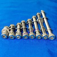 M4 304 stainless steel HEX socket head screw bolt flat & spring gasket nut kit