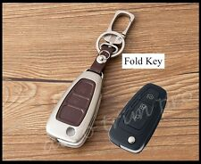 Metal 3 Button Key Case Holder Fob Ring Cover For Ford Focus Escape Kuga Fiesta