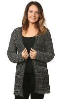 Ladies Women's Crochet Knitted Cardigans Button Top Jumper All Season Plus Sizes