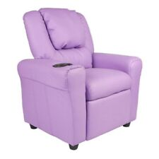 Recliners For Girls With Cup Holder Reading Chair For Bedroom Gaming TV Lavender