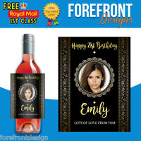 Personalised Photo Red/white Wine Bottle Label Perfect Birthday/Graduation gift