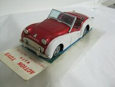 1960'S TRIUMPH TR3 SPORTS CAR, TIN, FRICTION, BANDAI, JAPAN, W ORIGINAL PACKAGE